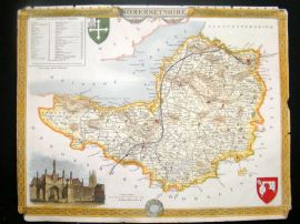 Moule C1840 Antique Hand Col Map. Somersetshire
